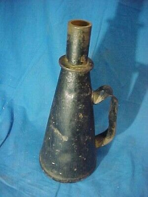 £7.16 • Buy 19thc RAILROAD TIN Signal TORCH LAMP FLARE Smudge Pot  By GEM Mfg Co