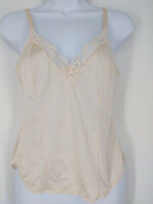 $13.96 • Buy VTG Maidenform Sweet Nothings Peach Antron III Nylon Lace Camisole USA Made 34