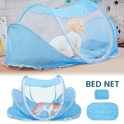 £19.59 • Buy Foldable Baby Mosquito Crib Net Bed Infant Travel Cot Canopy Tent Sleep Pad Rs
