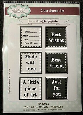£3.70 • Buy Creative Expressions Lisa Horton Text Tiles Clear Stamp Set CEC918 A5