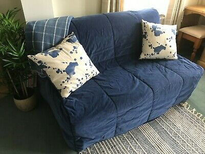 £35 • Buy IKEA Double Lycksele Sofa Bed, 2 Covers, Blue/cream, Goodcondition. Collect WA8
