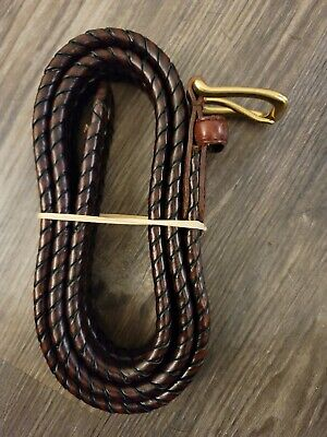 $14.89 • Buy Fossil - Men's Genuine Leather Belt, Size 40, Brown With Brass Buckle
