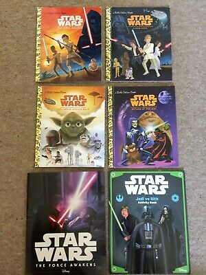 £4.99 • Buy Star Wars Books X6 Titles: 4 Little Golden Book Series Plus 2 Others