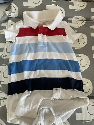 £0.99 • Buy Gap Baby Boy Shorts  Romper  All In One Summer Polo Shirt Style Size 0-3 Months