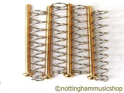 £5.19 • Buy 4 Gold Humbucker Pickup Screws And Springs For Mounting Pickups To Guitar