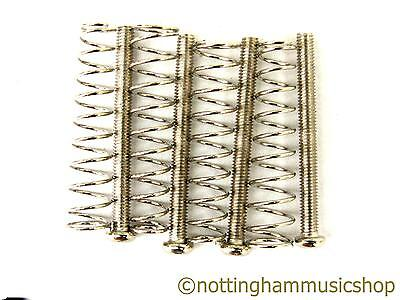 £5.89 • Buy 4 Chrome Humbucker Pickup Screws And Springs For Mounting Pickups To Guitar