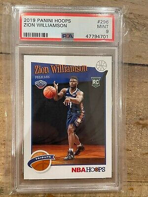 $34.95 • Buy 2019-20 NBA Hoops Zion Williamson Tribute Rookie Card RC #296 PSA 9 MINT
