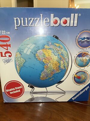 $24 • Buy Ravensburger 3D Jigsaw Puzzle Earth World Globe 540 Pcs With Stand 2007 NEW