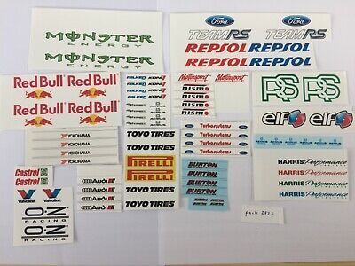 £4.50 • Buy 1/18 Scale Modified Tuning SPONSOR Waterslide Decals Pack ZFZF (clear Backing)
