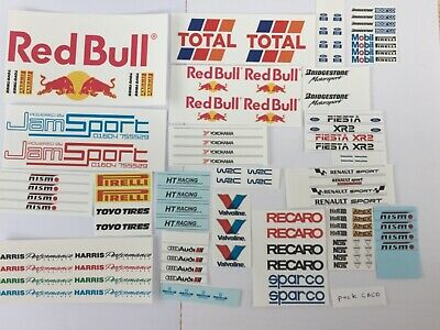 £4.50 • Buy 1/18 Scale Modified Tuning SPONSOR Waterslide Decals Pack CACD (clear Backing)