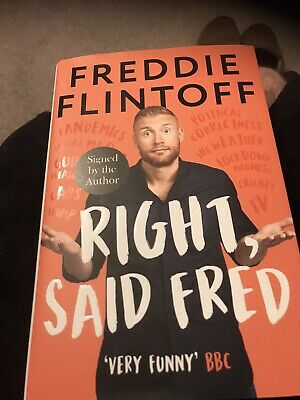 £30 • Buy Fred Flintoff - Right Said Fred Exclusive Signed Edition Hard To Find