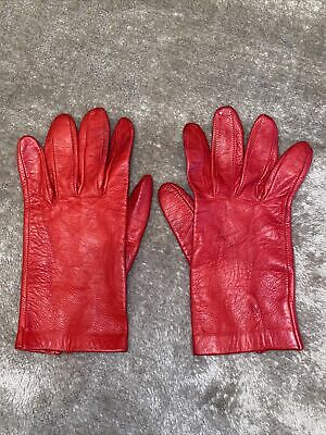 £4.50 • Buy Oasis Real Red Leather Gloves Size Small