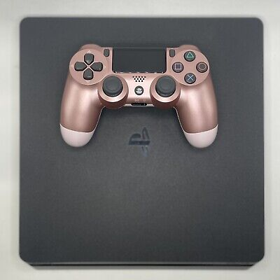 AU406.68 • Buy Sony PS4 Slim 1TB Black Bundle W/ Rose Gold Controller, HDMI & Power Cable