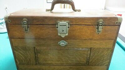 $250 • Buy Vintage H Gerstner & Sons Oak Machinists Chest  Approx 21x14x10