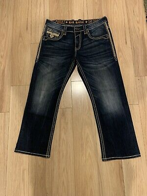 $30 • Buy Men's Size 36x30 Rock Revival Valence Relaxed Straight Fit Jeans