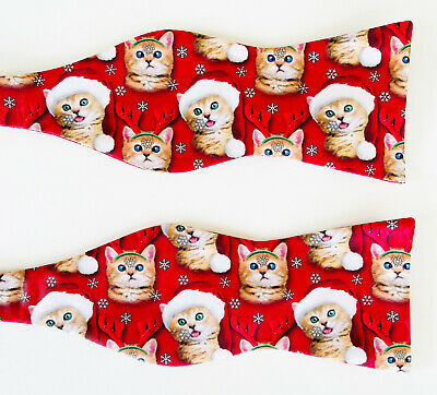 $9.95 • Buy Bow Tie Tuesday Red Christmas Holiday Cats Santa Reindeer Novelty Bowtie $36