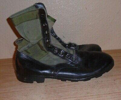 $25 • Buy Vintage  U S Military Jungle Combat Boots Mens 10.5 R Army