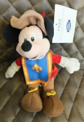 £3.99 • Buy Disney Mickey Mouse Musketeer Mini Bean Bag Soft Toy With Tags