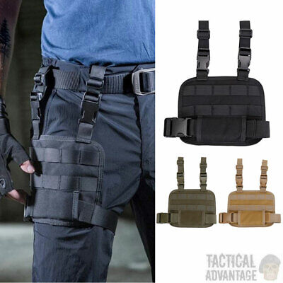 £10.95 • Buy Tactical MOLLE Drop Leg Utility Platform Thigh Rig Holster Panel Magazine Pouch