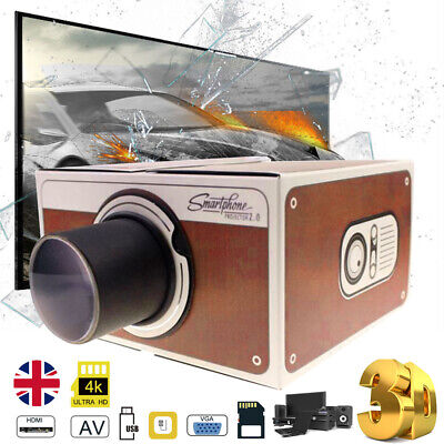 £8.59 • Buy V2.0 Smartphone DIY Projector Home Wall Cinema TV Screen For IPhone Samsung Hot