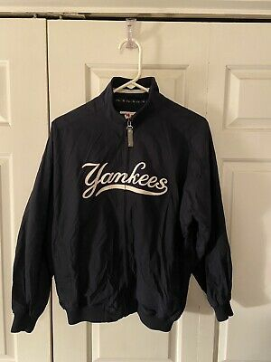 $40 • Buy Majestic New York Yankees Full Zip Navy Blue Dugout Jacket Size YOUTH L