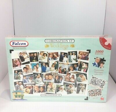 £19.99 • Buy Falcon Coronation Street Weddings 1000 Pieces Double Sided Jigsaw Puzzle New