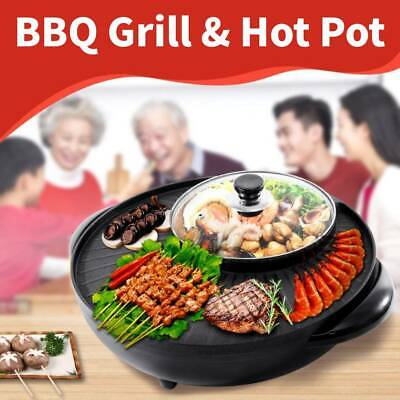 £35.04 • Buy Electric Grill Pan Non-stick 1350W Hot Pot BBQ Cooker Indoor / Outdoor Portable