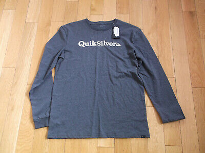 £21.99 • Buy Quicksilver Fraction Of Mind Top, LONG SLEEVED, COLOR Dark Grey, SIZE S