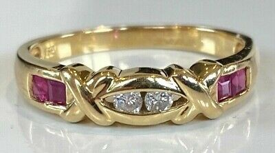£275 • Buy VERY BEAUTIFUL TOP QUALITY Very Unusual  VINTAGE 18ct GOLD DIAMOND AND RUBY RING