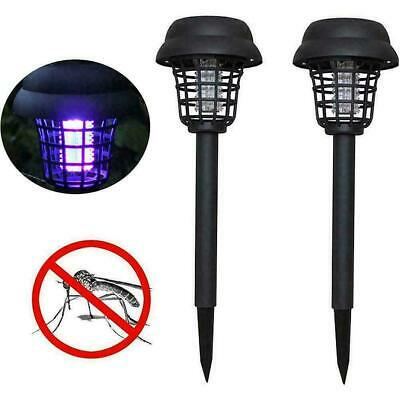 £6.70 • Buy 2X Solar Powered Outdoor Mosquito Fly Bug Insect Zapper Trap H4D7 Light L4O9