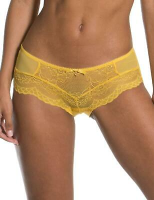 £16.20 • Buy Gossard Superboost Lace Short 7714 Womens Knickers Semi Sheer Lace Spicy Mustard