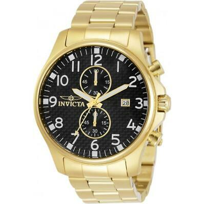 £3.95 • Buy Invicta Specialty 0382 Men's Round Gold Tone Chronograph Date Analog Watch