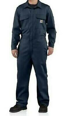$74.99 • Buy NEW Carhartt Coveralls Navy Flame Resistant Traditional FR Cotton Twill 4XL TALL