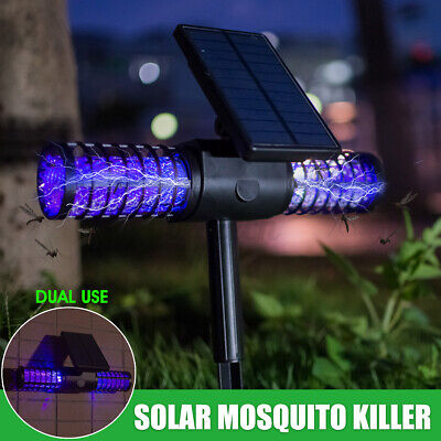 £23.68 • Buy Solar Bug Zapper Lamp Electric Mosquito Insect Fly Killer LED Light Pest