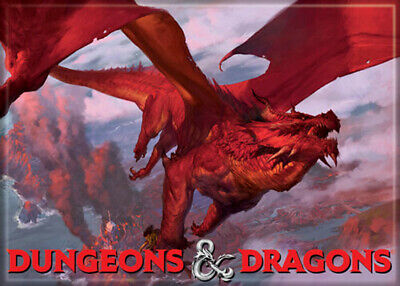 AU32.87 • Buy Dungeons And Dragons Red Dragon 3.5 X 2.5 Magnet