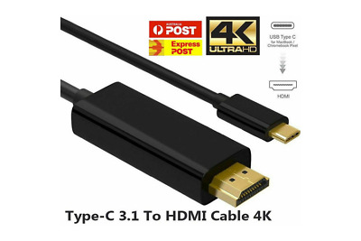 AU11.90 • Buy USB C To HDMI Cable USB 3.1 Type C Male To HDMI Male 4K Cable Macbook Chromebook