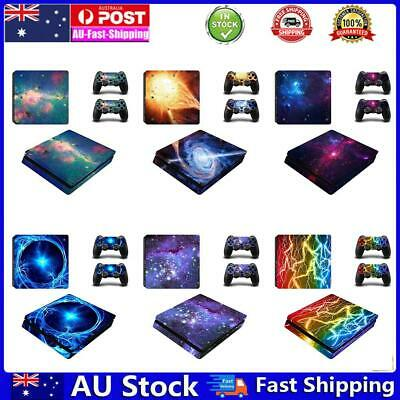 AU14.34 • Buy Skin Stickers For PS4 Sony Playstation 4 Slim Console 2 Controller Decal