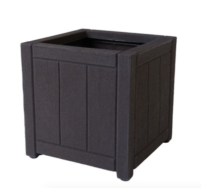 £22.50 • Buy Strata Garden Outdoor Square Oakwood Planter Tub Container - 40cm Plant Pot New