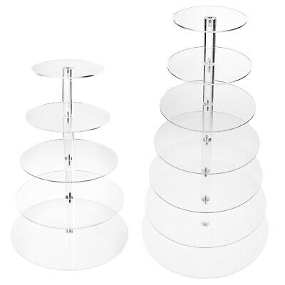 £24.12 • Buy 5 Tier/ 7 Tier Clear Birthday Party Cupcake Display Stand Cup Cake Holder Tower