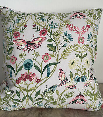 """£10.99 • Buy Clarke And Clarke Double Sided Pieris Butterfly Cushion Cover 18"""" X 18"""""""
