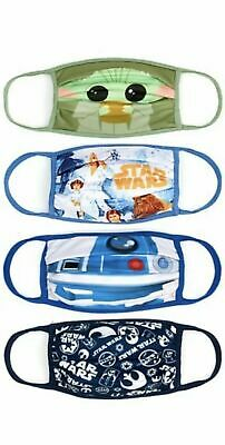 £5.99 • Buy Disney Star Wars Cloth Face Coverings Size Large, Pack Of 4