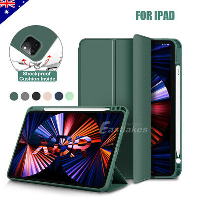 AU22.95 • Buy For IPad Pro 12.9 11 2021 2020 IPad Air 4th Smart Case Silicon Cover Pen Holder
