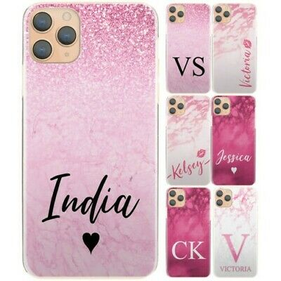 AU13.51 • Buy Personalised Phone Case For Xiaomi/oppo, Initial Pink Lips Marble Hard Cover