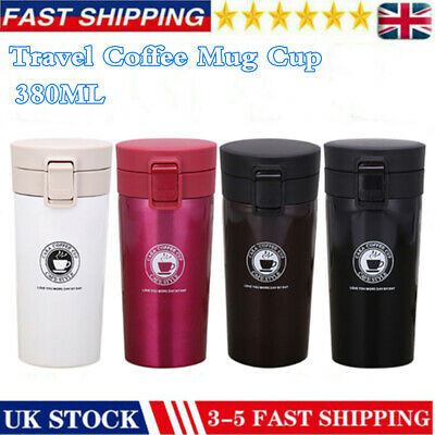 £8.69 • Buy Travel Leakproof Coffee Mug Cup Thermal Stainless Steel Flask Vacuum Insulated-Q