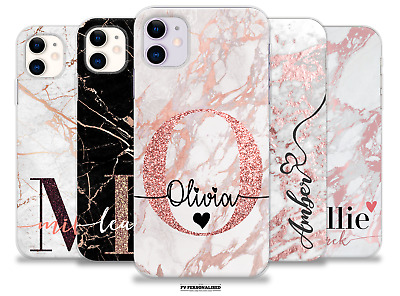 AU24.99 • Buy Personalised Case For Iphone 11 Xr 7 Se Name Initials Silicone Soft Cover Gift