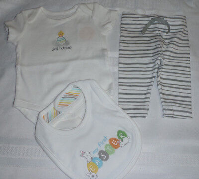 £18.19 • Buy Gymboree 0-3 Month First Easter Bib Pants Bodysuit Outfit NWT
