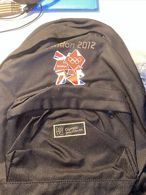 £14.99 • Buy Official London 2012 Olympic Backpack Black Rucksack Bag Brand New With Tags