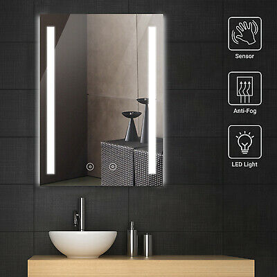 £63.99 • Buy LED Bathroom Mirror RGB Light Wall Mounted W/Demister Touch Switch Shaver Socket