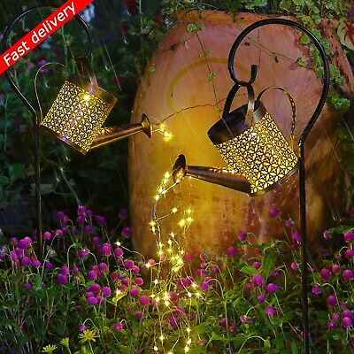 £18.99 • Buy Solar Powered LED String Light Watering Can Outdoor Garden Art Lamp Decor Hollow