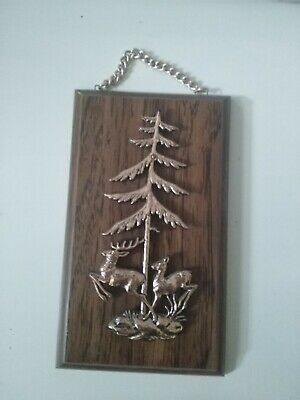 £12.99 • Buy Vintage Retro Chunky Wooden Wall Plaque Hunting Deer Stag Man Cave Home Bar